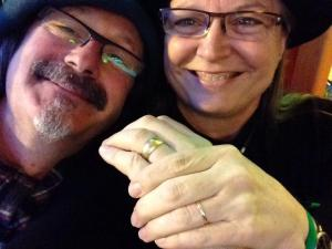 Wedding Rings Selfie